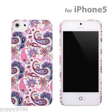 New PopnGo Hard Cover Case Slider slim High Gloss - Paisley for iPhone 5