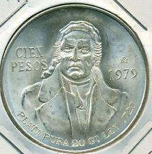 1979 SILVER MEXICO 100 PESO, GREAT PRICE!