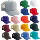12 TRUCKER HATS ~ WHOLESALE LOT ~ SOLID COLORS Mesh Caps Adjustable SNAPBACK HAT