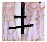 Punjabi Suit Designer Sharara Suit In Light Pink *Brand New & Custom Size*