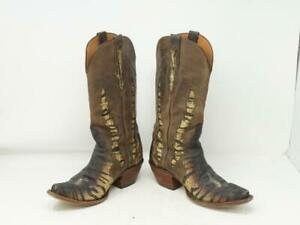 BLACKJACK EXOTIC STINGRAY TRIAD MEN 6.5 COWBOY BOOTS WESTERN