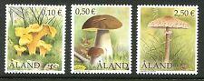 Aland Island Stamps Scott #194; 197; 200 Mushrooms MNH 2002