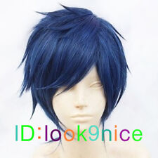 Rei Ryugazaki Short Blue Black Mix Cosplay Wig + Free wig cap