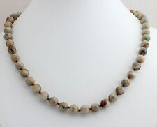 Crazy Lacy Agate Ball Necklace 8mm45cm Precious Stone Collier NEW