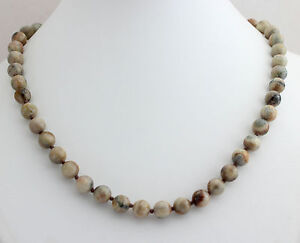 Crazy Lace Agate Ball Necklace 8mm45cm Precious Stone Necklace Collier New