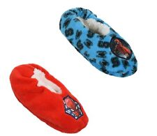 Marvel Spiderman Character Boys Kids House Slippers Socks Warm Cosy Sherpa Coral