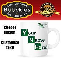 Breaking Bad Mug Your Name Text Gift Idea Valentines Birthday Personalised Xmas