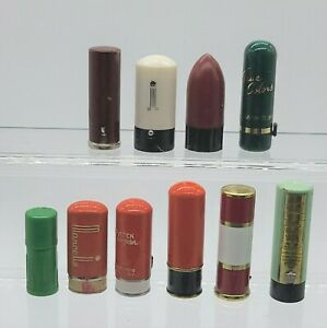 Vintage Lot of 10 pieces Mini Collectable Lipsticks  #1