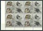 Russia 1990 Zoo relief fund strip of 4 in block of 16 SG6135-37 mnh.