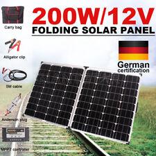 GISTA 200W 12V Folding Solar Panel Kit Caravan Camping Power USB Charging AU