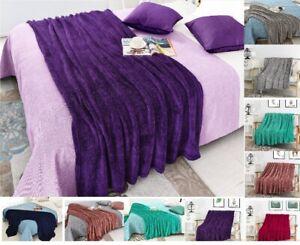 Teddy Faux FUR Extra Large Fleece Blankets Duvets Bedspread cuddly soft Bed Warm