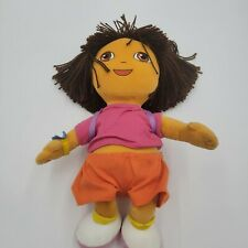 "Vintage Nickelodeon TY Dora The Explorer Backpack 18"" Stuffed Plush Pillow Doll"
