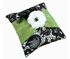 green & black ring pillow ring bearer pillow wedding ringbearer