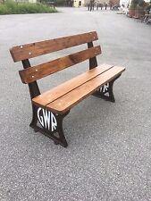 GWR railway bench 4ft platform bench cast iron platform bench british reclaimed