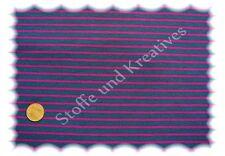 Campan Jersey blau (jeans) fuchsia 50 cm Hilco Streifenstoff Streifenjersey