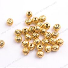 50/100Pcs Tibetan Silver Round Charm Spacer Beads Choose Colors 3141