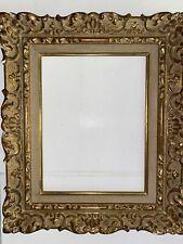 Sublime  Et Ancien Cadre Montparnasse 31x24 Feuillure Doré Feuille Or