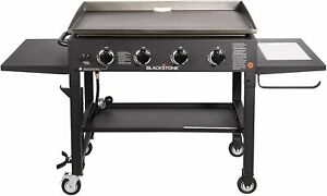 Blackstone 36 inch Outdoor Flat Top 4-Burner Gas Grill Griddle Station