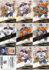 2017-18 UD MVP Oilers 24-Card Master Team Set Silver Script + Puzzle + Creds
