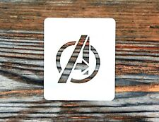 The Avengers Logo Face Painting Stencil 7cm x 6cm Washable Reusable Mylar