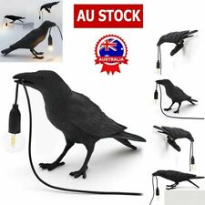 Style Raven Lamp Light Black White Novelty Bird Crow Wall lamp Decoration HOT D7