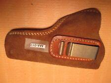 Nice CLIP-ON BIANCHI Tan Leather HIDE AWAY STYLE GUN PISTOL Holster MAKE OFFER