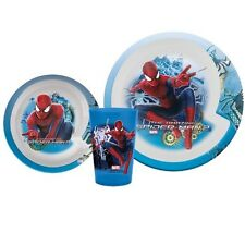 Marvel Ultimate Spider-man Mealtime Dinnerware Set Plate,Bowl + Cup-Brand New!2