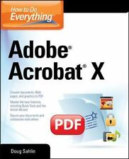 How to Do Everything Adobe Acrobat X-ExLibrary