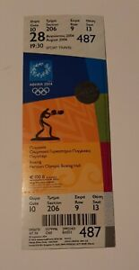 2004 Athens Olympic Games, Boxing unused ticket, code: 487