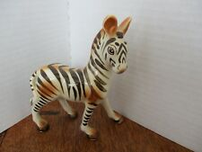 "Mcm Ceramic Zebra Black White Brown Stripes 5"" x 4.5"" - Retro 1950's!"