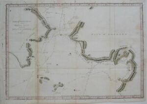 Original 1784 Map NORTON SOUND BERING STRAIT Captain Cook's 3rd Voyage Alaska