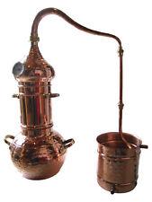 """Kolonnenbrennerei """"Premium"""" Kupfer 3 L mit Thermometer Destille ätherische Öle"""