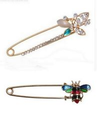 butterfly and bee style hairpin nurse Set of 2 pcs Brooch golden