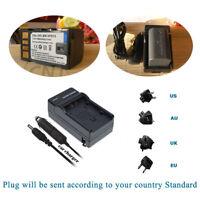 Battery Or Home&car Charger for JVC BN-VF815 BN-VF815U & JVC GZ-HD7 Camcorder