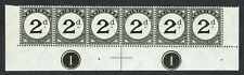 Trinidad 1923 SG D19 2d Superb Bottom Row With Plate 1 Strip 5 Unmounted