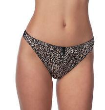 Alegro Lingerie Women's Wild Safari Animal Print Thong Panty Underwear 9051C