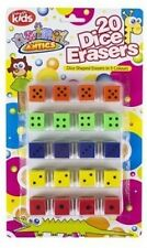 16pc dice novelty rubber pencil eraser erasers children kid stationery gift toy