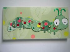 HALLMARK ~ JOINTED 3D CATERPILLAR BIRTHDAY GREETING CARD + ENVELOPE