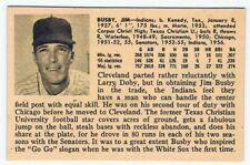 1956 Jim Busby Vintage ULTRA RARE card - Cleveland Indians