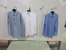 3 MENS COLLAR DRESS SHIRTS BUTTON DOWN 16-1/2 32/33 OXFORD CLOTHES BULK LOT NEW