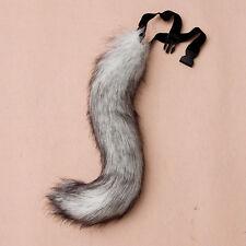 Halloween Faux Fur fox's Tail Unisex Cosplay Furry Wolf Dog Adjustable Costume