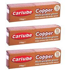 3 Carlube Copper grease Multi Purpose Anti Sieze Slip Assembly Compound 70g Tube