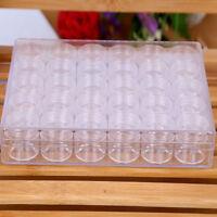 Clear Plastic 30 Slots Adjustable Jewelry Storage Box Case Craft Organizer