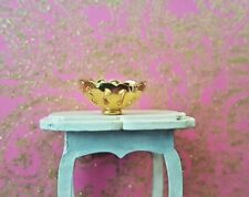 Gold metal decorative BOWL dish 1:24th scale dolls house ornament