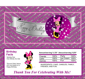 12 Minnie Mouse Hershey Candy Bar Wrappers Birthday Party Supplies Baby Shower