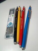 Lapiz porta minas 2 mm de colores con recambios Stylus HB de grafito