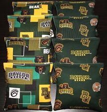 8 Cornhole Beanbags made w Baylor University Bears Fabric Top Quality Bags