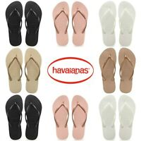 Original Havaianas Slim Womens Flip Flops Ladies Summer Beach Shoes Size Uk