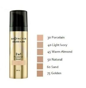 Max Factor Ageless Elixir Miracle 2 in 1 Foundation + Serum - CHOOSE YOUR SHADE