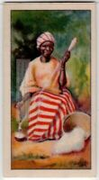 Native African Ashanti Women Spinning Cotton 80+  Y/O Ad Trade Card